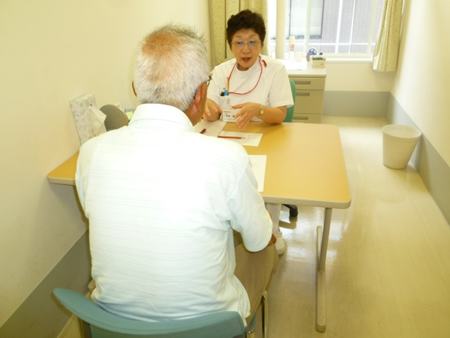 個室での障害に応じた訓練